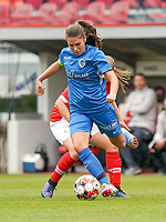 Genk's Sien Vandersanden (10) with the ball during a female soccer game between Standard Femina de Liege and KRC Genk Ladies  on the third matchday of the 2020 - 2021 season of Belgian Womens Super League , Saturday 3 rd of October 2020  in Liege , Belgium . PHOTO SPORTPIX.BE   SPP   SEVIL OKTEM