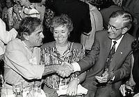 Montreal (Qc) CANADA - July 1992 File Photo - Juste Pour Rire Festival - - Jean Besre (L), Jean Campeau (R)
