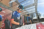 Geraint Thomas (WAL) Team Sky at sign on in Fortezza Medicea before the start of Strade Bianche 2019 running 184km from Siena to Siena, held over the white gravel roads of Tuscany, Italy. 9th March 2019.<br /> Picture: LaPresse/Gian Matteo D'Alberto   Cyclefile<br /> <br /> <br /> All photos usage must carry mandatory copyright credit (© Cyclefile   LaPresse/Gian Matteo D'Alberto)