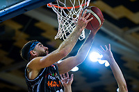 Hawks' Ethan Rusbatch in action during the National Basketball League Final Four semifinal match between Hawkes Bay Hawks and Southland Sharks at Te Rauparaha Arena in Porirua, New Zealand on Thursday, 22 July 2021. Photo: Dave Lintott / lintottphoto.co.nz