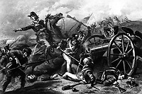 Col. Miller at the Battle of Chippewa. July 1814.  Copy of engraving by W. Ridgway after F.O.C. Darley,  ca. 1860. (Army)<br /> Exact Date Shot Unknown<br /> NARA FILE #:  111-SC-96967<br /> WAR & CONFLICT BOOK #:  86