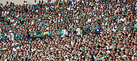 CALI - COLOMBIA 08 -02-2015: Hinchas del Deportivo Cali, durante partido entre Deportivo Cali y La Equidad  de la fecha 2 de la Liga Aguila I-2015, jugado en el estadio Deportivo Cali de la ciudad de Cali. / Fans of Deportivo Cali, during a match between Deportivo Cali and La Equidad for the date 2 of the Liga Aguila I-2015 at the Deportivo Cali stadium in Cali city. Photo: VizzorImage  / Juan C Quintero / Str.
