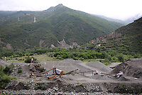 A small mine in the Tibetan foothills near the town of Heishui on the south-east edge of the Tibetan Plateau in Sichuan Province, western China.
