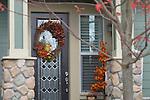 Front door with a Wreath