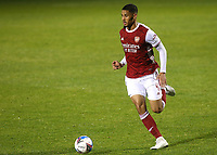 William Saliba of Arsenal in action during Gillingham vs Arsenal Under-21, Papa John's Trophy Football at the MEMS Priestfield Stadium on 10th November 2020