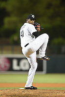 Glendale Desert Dogs pitcher Jefferson Olacio (41) during an Arizona Fall League game against the Peoria Javelinas on October 13, 2014 at Camelback Ranch in Phoenix, Arizona.  The game ended in a tie, 2-2.  (Mike Janes/Four Seam Images)