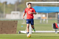 BRADENTON, FL - JANUARY 23: Aaron Long moves with the ball during a training session at IMG Academy on January 23, 2021 in Bradenton, Florida.