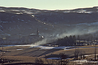 Europe/France/Auvergne/15/Cantal/Ségur les Villas : Brume sur le village