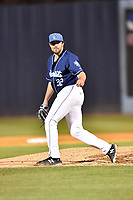 Asheville Tourists pitcher Ben Bowden (32) delivers a pitch during a game against the Columbia Fireflies at McCormick Field on April 12, 2018 in Asheville, North Carolina. The Fireflies defeated the Tourists 7-5. (Tony Farlow/Four Seam Images)