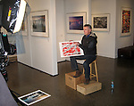 Art talking about his images printed on Epson Velvet Fine Art paper for the Epson video at the Art Wolfe Gallery.