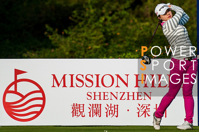 Yea Lin Kang of Korea in action during the Hyundai China Ladies Open 2014 on December 13 2014, in Shenzhen, China. Photo by Xaume Olleros / Power Sport Images