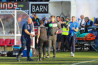 9th October 2021;  VBS Community Stadium, Sutton, London; EFL League 2 football, Sutton United versus Port Vale 9th October 2021; Post-match managers handshake