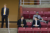 Tommy Atkinson, Brooks Dryoff, Malcolm Lyles, Patch Alber - The Boston College Eagles defeated the Merrimack College Warriors 4-3 on Friday, October 30, 2009, at Conte Forum in Chestnut Hill, Massachusetts.