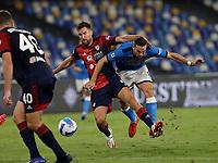 26th September 2021; Maradona Stadium, Naples, Italy; Serie A football, Napoli versus Cagliari :  Fabián Ruiz of Napoli is blocked from his shot