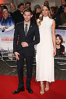"""Luke Treadaway and Ruta Gedmintas<br /> at the Premiere of """"A Street Cat Named Bob"""", Curzon Mayfair, London.<br /> <br /> <br /> ©Ash Knotek  D3194  03/11/2016"""