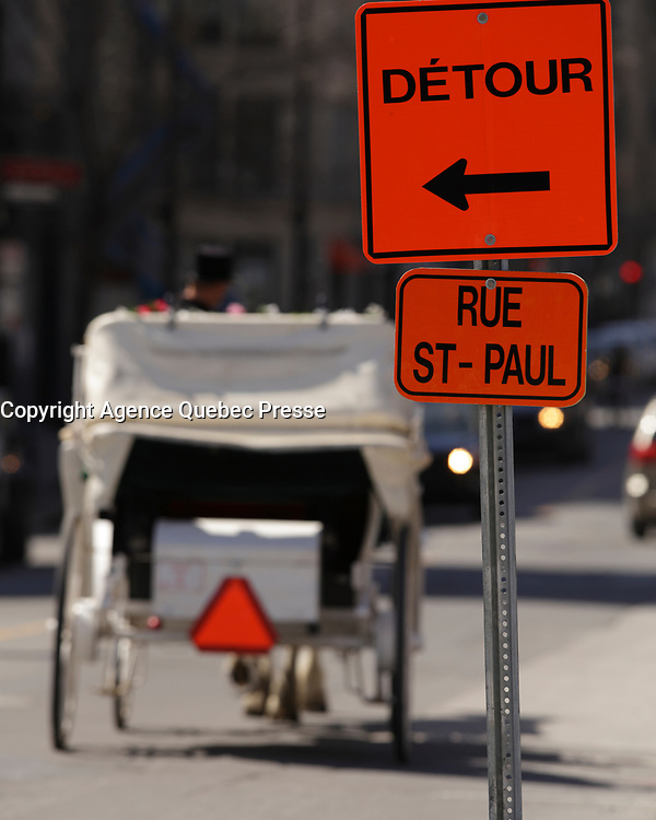 detour in Old-Montreal, summer 2016<br /> <br /> Photo : <br /> Pierre Roussel - Agence Quebec Presse