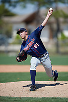 Minnesota Twins pitcher Kevin Marnon (81) during a Minor League Spring Training game against the Tampa Bay Rays on March 15, 2018 at CenturyLink Sports Complex in Fort Myers, Florida.  (Mike Janes/Four Seam Images)