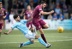 Forfar v St Johnstone…28.07.18…  Station Park    Betfred Cup<br />Drey Wright is fouled by Dylan Easton<br />Picture by Graeme Hart. <br />Copyright Perthshire Picture Agency<br />Tel: 01738 623350  Mobile: 07990 594431