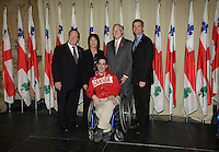 October 29 2012 - Montreal, Quebec, CANADA - Gerald Tremblay, Mayor of Montreal receive at City Hall  local athletes who took part in London 2012  Olympics and Paralympics games. IN PHOTO : Dave Richer