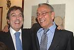 """FABRIZIO DEL NOCE CON CESARE PREVITI<br /> 75° COMPLEANNO DI LINO JANNUZZI - """"DA FORTUNATO AL PANTHEON"""" ROMA 2003"""
