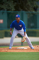 Toronto Blue Jays Bryan Lizardo (6) during practice before an instructional league game against the Atlanta Braves on September 30, 2015 at the ESPN Wide World of Sports Complex in Orlando, Florida.  (Mike Janes/Four Seam Images)