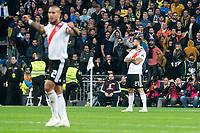 River Plate Jonatan Maidana and Lucas Pratto celebrating a goal during  Commebol Final Match between River Plate and Boca Juniors at Santiago Bernabeu Stadium in Madrid, Spain. December 09, 2018. (ALTERPHOTOS/Borja B.Hojas) /NortePhoto.com