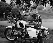 "0703-02-08.""Carlene and her BMW. September 1980"" BMW RMW 75/5 Windjammer II. Portland, Oregon"