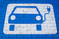 Germany, Hamburg, parking and charging  for e-cars