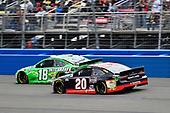 #18: Kyle Busch, Joe Gibbs Racing, Toyota Camry Interstate Batteries and #20: Erik Jones, Joe Gibbs Racing, Toyota Camry Reser's Fine Foods