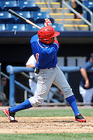 Auburn Doubledays outfielder Narciso Mesa (1) during game against the Staten Island Yankees at Richmond County Bank Ballpark at St.George on August 2, 2012 in Staten Island, NY.  Auburn defeated Staten Island 11-3.  Tomasso DeRosa/Four Seam Images