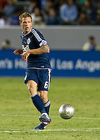 CARSON, CA - June 23, 2012: Vancouver Whitecaps defender Jay DeMerit (6) during the LA Galaxy vs Vancouver Whitecaps FC match at the Home Depot Center in Carson, California. Final score LA Galaxy 3, Vancouver Whitecaps FC 0.