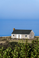 Beach house with view to the ocean, Truro, Cape Cod, Massachusetts, USA.
