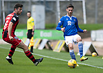 St Johnstone v St Mirren……29.08.20   McDiarmid Park  SPFL<br />Scott Tanser and Nathan Sheron<br />Picture by Graeme Hart.<br />Copyright Perthshire Picture Agency<br />Tel: 01738 623350  Mobile: 07990 594431