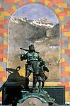 CHE, Schweiz, Kanton Uri, Altdorf: Wilhelm Tell Denkmal | CHE, Switzerland, Canton Uri, Altdorf: Wilhelm Tell monument