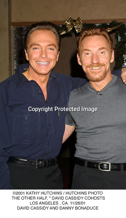 "©2001 KATHY HUTCHINS / HUTCHINS PHOTO. THE OTHER HALF, "" DAVID CASSIDY COHOSTS.LOS ANGELES , CA. 11/28/01.DAVID CASSIDY AND DANNY BONADUCE"