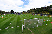 A general view of David Farrington Park before the ISPS Handa Men's Premiership - Team Wellington v Canterbury Utd at David Farrington Park, Wellington on Saturday 19 December 2020.<br /> Copyright photo: Masanori Udagawa /  www.photosport.nz