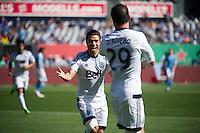 BRONX, NY - Sunday April 30, 2016: New York City FC defeats the Vancouver Whitecaps 3-2 at home at Yankee Stadium in regular season MLS play.