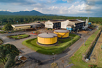 Luftbildaufnahme einer Raffinerie von Oepalmen, Kimbe, Neubritannien, Papua Neuguinea, PNG / Arial View from a Refinery of a Oil palm, Kimbe, New Britain, Papua New Guinea, PNG