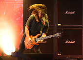 WEST PALM BEACH, FL - AUGUST 05: Mike Mushok of Staind performs at The iTHINK Financial Amphitheatre on August 5, 2021 in West Palm Beach Florida. Credit Larry Marano © 2021