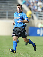 24 October 2004:  Brian Mullan of Earthquakes in action against Wizards at Spartan Stadium in San Jose, California.   Earthquakes defeated Wizards, 2-0.  Credit: Michael Pimentel / ISI