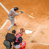 29 May 2016: St. Louis Cardinals infielder Jedd Gyorko in action against the Washington Nationals at Nationals Park in Washington, DC. The Nationals defeated the Cardinals 10-2 to split their 4-game series. Mandatory Credit: Ed Wolfstein Photo *** RAW (NEF) Image File Available ***
