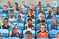 Cardboard cutouts of fans look on during Millwall vs Middlesbrough, Sky Bet EFL Championship Football at The Den on 8th July 2020