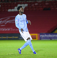 Manchester City U21's Alpha Dionkou<br /> <br /> Photographer Andrew Vaughan/CameraSport<br /> <br /> EFL Papa John's Trophy - Northern Section - Group E - Lincoln City v Manchester City U21 - Tuesday 17th November 2020 - LNER Stadium - Lincoln<br />  <br /> World Copyright © 2020 CameraSport. All rights reserved. 43 Linden Ave. Countesthorpe. Leicester. England. LE8 5PG - Tel: +44 (0) 116 277 4147 - admin@camerasport.com - www.camerasport.com