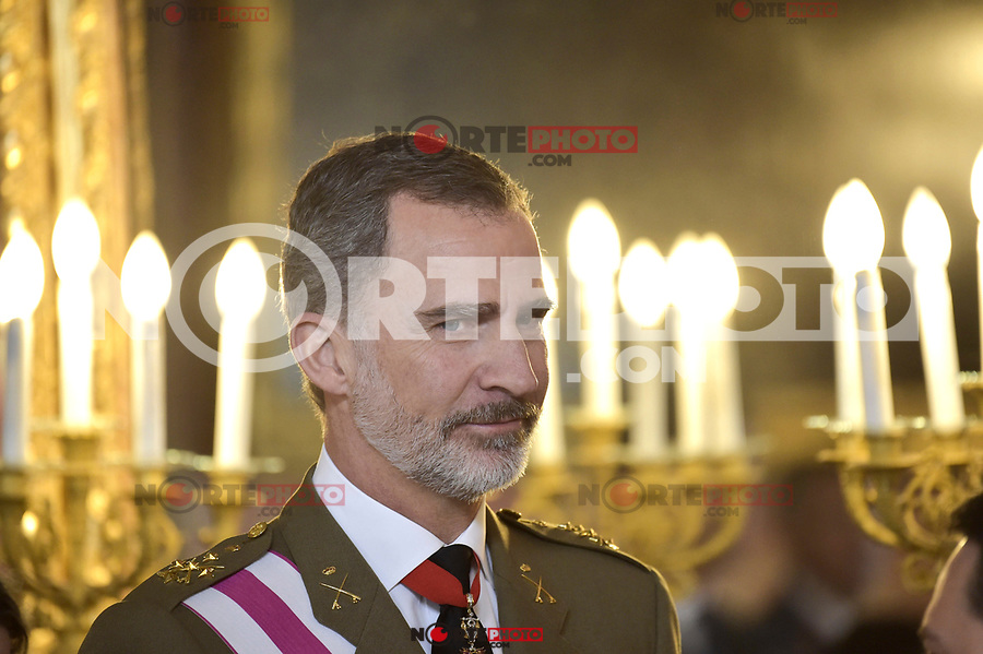 King Felipe VI of Spain attends to Pascua Militar at Royal Palace in Madrid, Spain. January 06, 2019. (ALTERPHOTOS/Pool) /NortePhoto.com