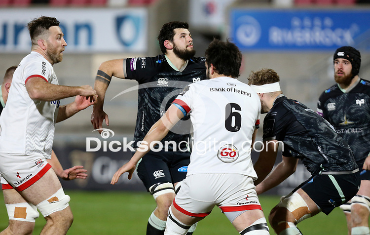 26 February 2021; Alan O'Connor during the Guinness PRO14 match between Ulster and Ospreys at Kingspan Stadium in Belfast. Photo by John Dickson/Dicksondigital