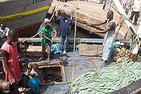 Unloading fish, Tema, Ghana..Photograph by Peter E. Randall