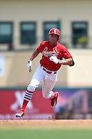 St. Louis Cardinals Peter Bourjos (8) during a Spring Training game against the New York Mets on April 2, 2015 at Roger Dean Stadium in Jupiter, Florida.  The game ended in a 0-0 tie.  (Mike Janes/Four Seam Images)