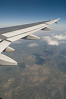 Airplane wing & view of the earth<br />