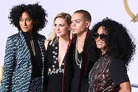 LOS ANGELES, CA, USA - NOVEMBER 17: Tracee Ellis Ross, Ashlee Simpson, Evan Ross, Diana Ross arrive at the Los Angeles Premiere Of Lionsgate's 'The Hunger Games: Mockingjay, Part 1' held at Nokia Theatre L.A. Live on November 17, 2014 in Los Angeles, California, United States. (Photo by Xavier Collin/Celebrity Monitor)