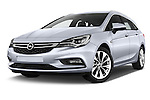 Stock pictures of low aggressive front three quarter view of 2016 Opel Astra Innovation 5 Door Wagon Low Aggressive